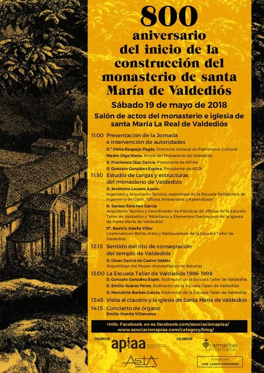 800 aniversario del inicio de la construcción del monasterio de Valdediós