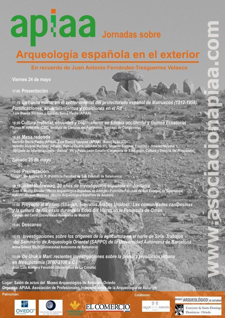 Jornadas de Arqueología española en el exterior_APIAA_2013