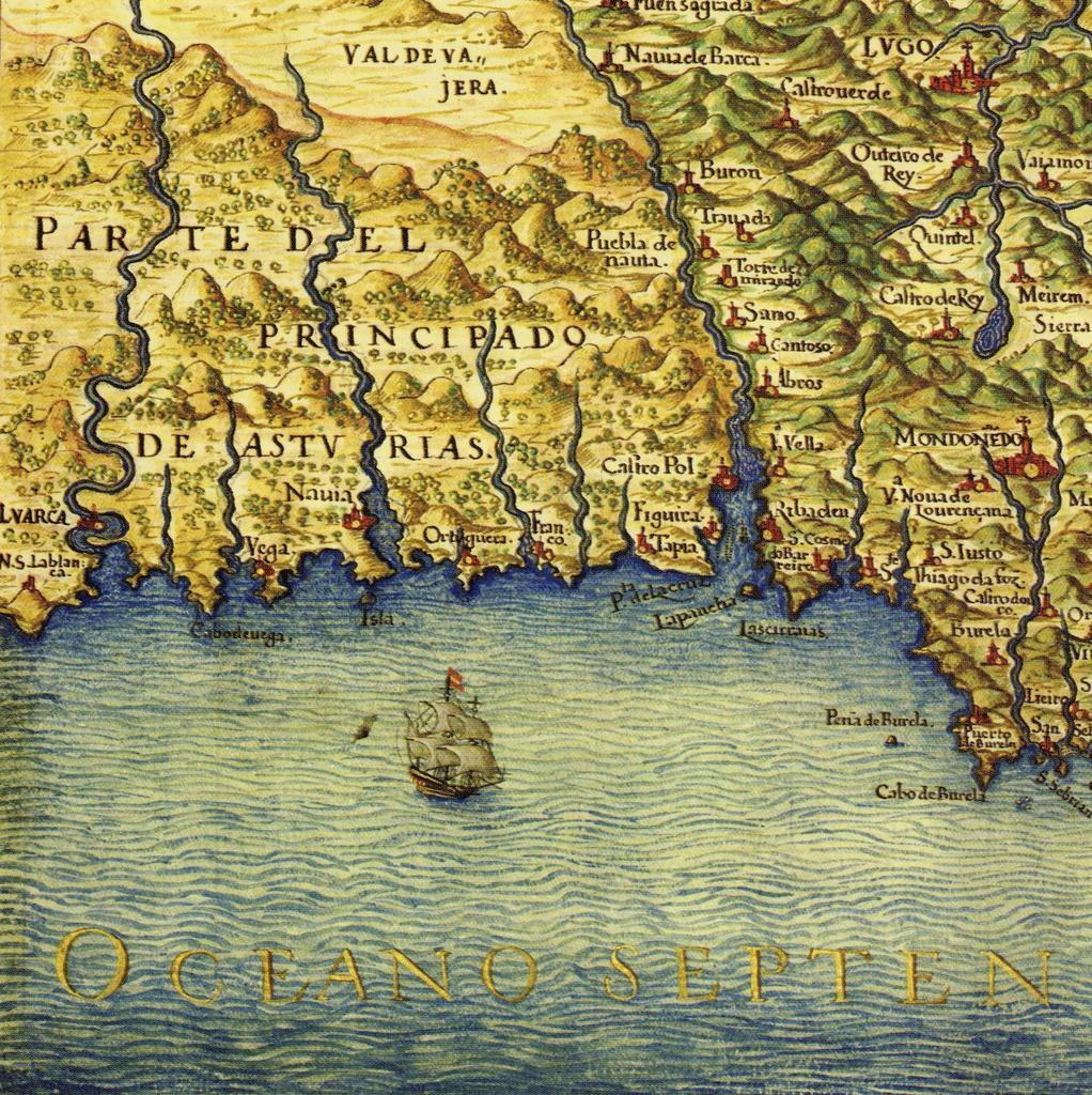 Plano general costa Galicia_Texeira 1634