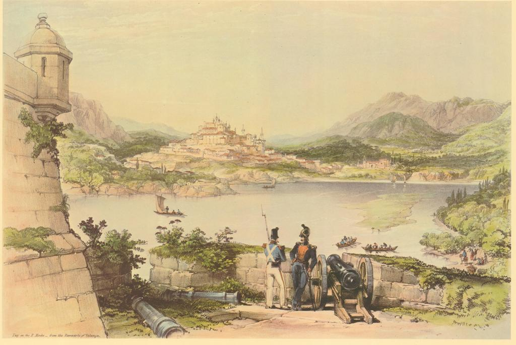 Tui on the River Minho, from the Ramparts of Valença de Vivian George_1838